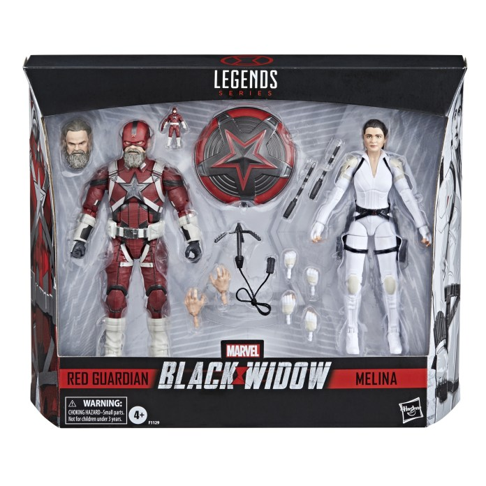 Red Guardian and Melina Vostokoff figure 2-pack BLACK WIDOW film tie-in revealed