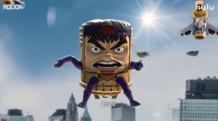 Gory chaos galore in the MARVEL's M.O.D.O.K. uncensored trailer