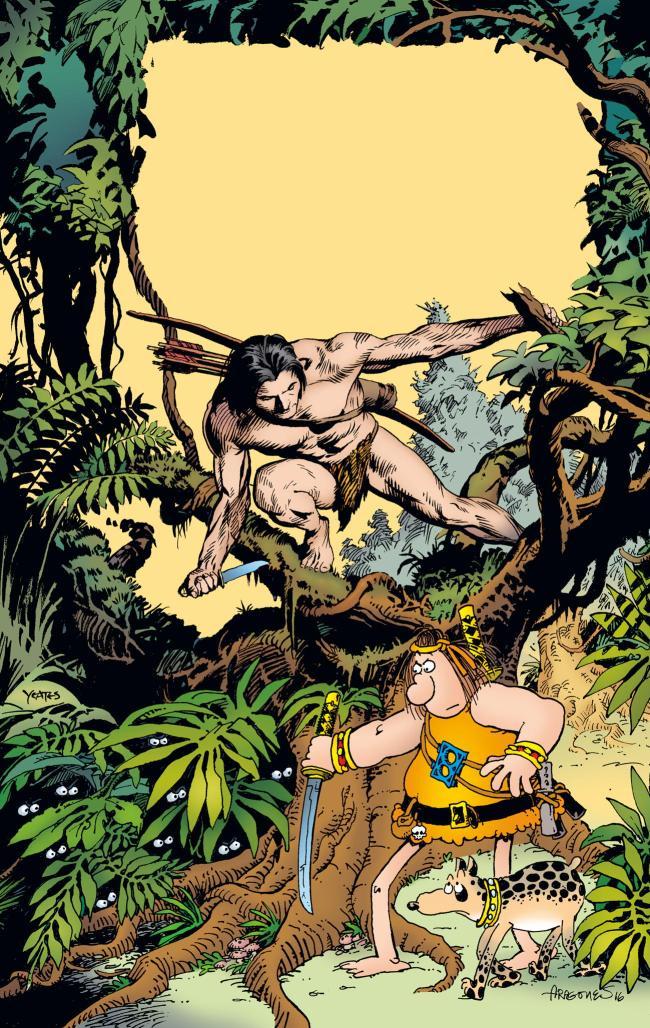 GROO MEETS TARZAN teams Aragonés's Wanderer with Burroughs's Lord of the Jungle