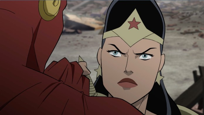 Stana Katic discusses voicing Wonder Woman in JUSTICE SOCIETY: WORLD WAR II video interview