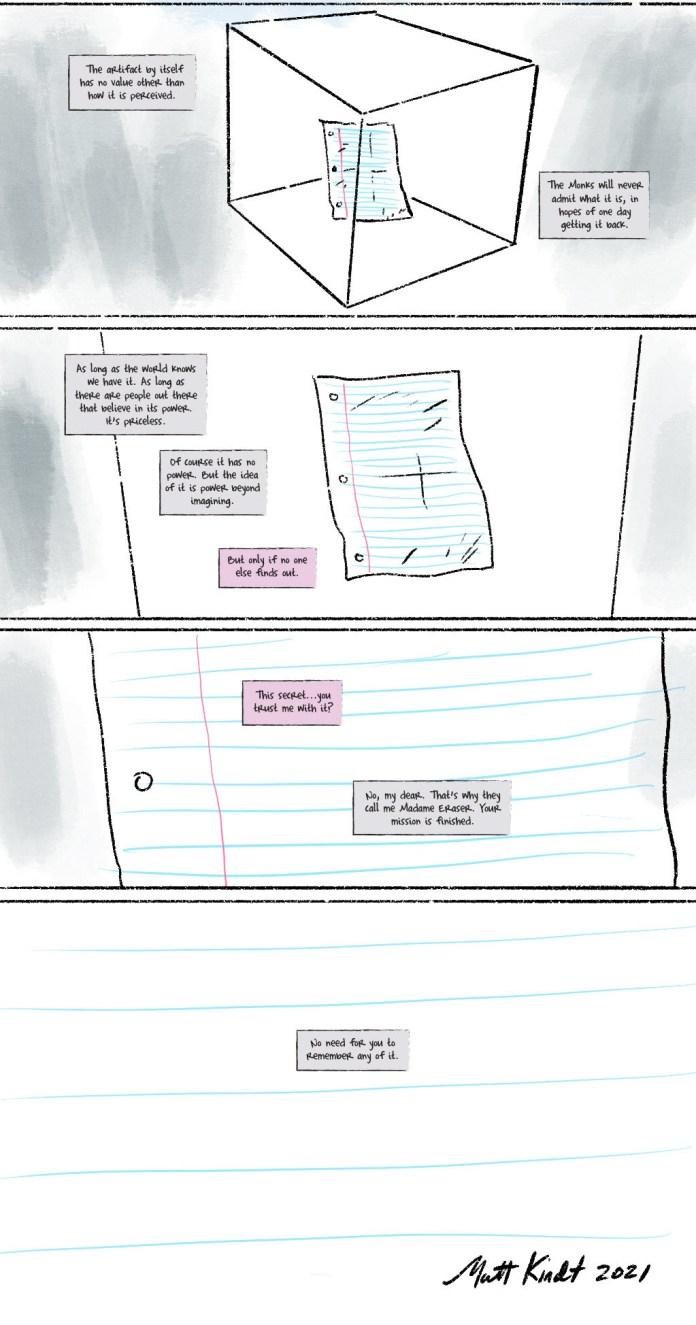 "Read ""The Artifact,"" Matt Kindt's NFT MIND MGMT comic"