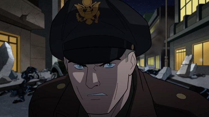 Chris Diamantopoulos discusses voicing Steve Trevor in JUSTICE SOCIETY: WORLD WAR II video interview
