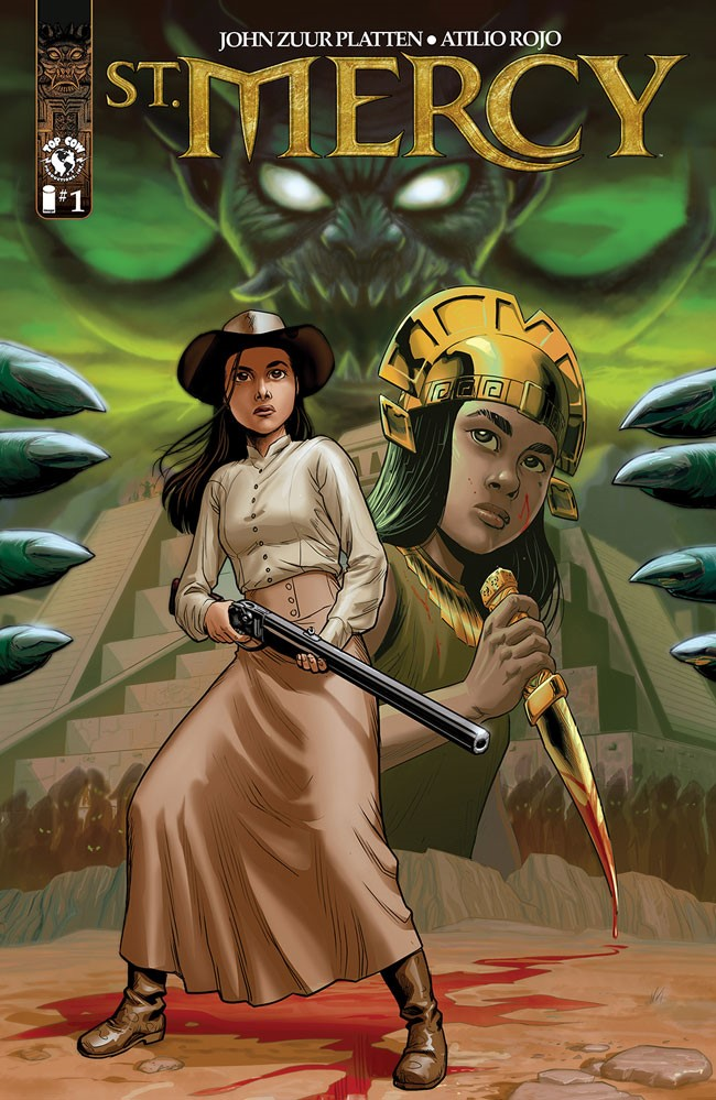 Platten and Rojo's ST. MERCY brings some Incan and Old West action from Top Cow this August
