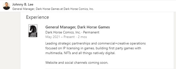 Dark Horse launches new games and digital content division